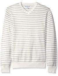 Men's Standard V-Neck Stripe Sweater