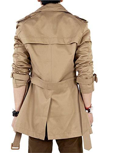 Larga Elegantes Y Abrigo 1 Parka De Sección Chaqueta Khaki Invierno Hombres Escudo Los Biran El Único Cortaviento 6wRzU