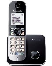 "Panasonic KX-TG6811SPB - Teléfono Fijo Inalámbrico (Pantalla LCD de 1.8"", Manos Libres, Identificador de Llamadas, Agenda 120 Números, Bloqueo de Llamadas, Modo ECO, Manos Libres) Negro/Plata"