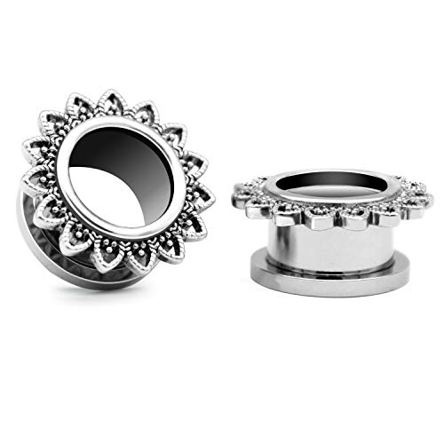 00 stainless steel plugs - 8