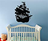 Wall Quotes Decal Wall Stickers Art Decor Pirate Ship For Nursery Kids Room