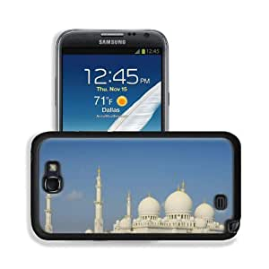 Architecture Buildings White Islam Mosques Samsung Galaxy Note 2 Snap Cover Premium Leather Design Back Plate Case Customized Made to Order Support Ready 6 inch (152mm) x 3 2/8 inch (82mm) x 4/8 inch (13mm) MSD Galaxy Note 2 Professional Leather Plastic C