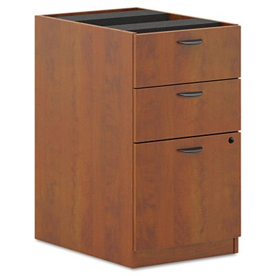 Basyx Pedestal, Box/Box/File, 15-5/8 by 21-3/4 by 27-3/4-Inch, Medium Cherry by basyx by HON