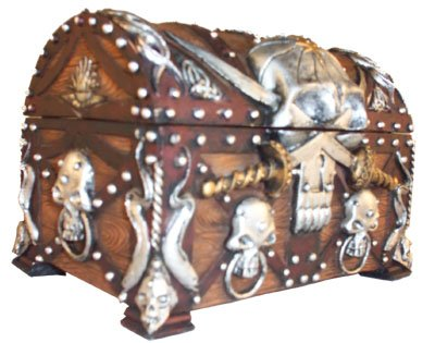 Pirate's Treasure Chest Trinket / Mini Jewelry Box