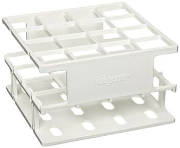 Nalgene 5972-0025 Acetal Plastic Unwire Test Tube Half Rack for 25mm Test Tubes, White