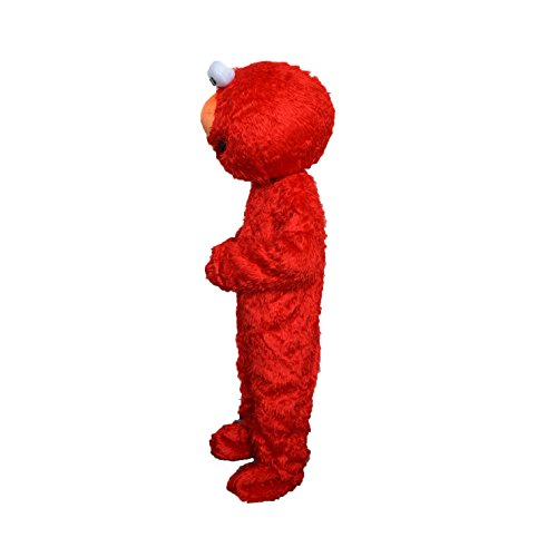 Alkem Elmo Red Monster Mascot Costume Plush Cartoon Costume (Red) -