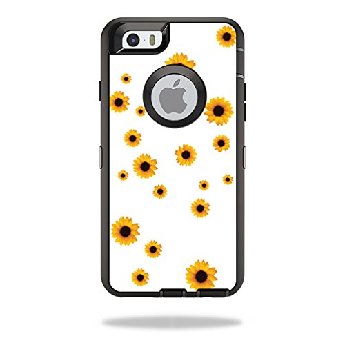MightySkins Protective Vinyl Skin Decal for OtterBox Defender iPhone 6/6S wrap Cover Sticker Skins Sunflower Shower