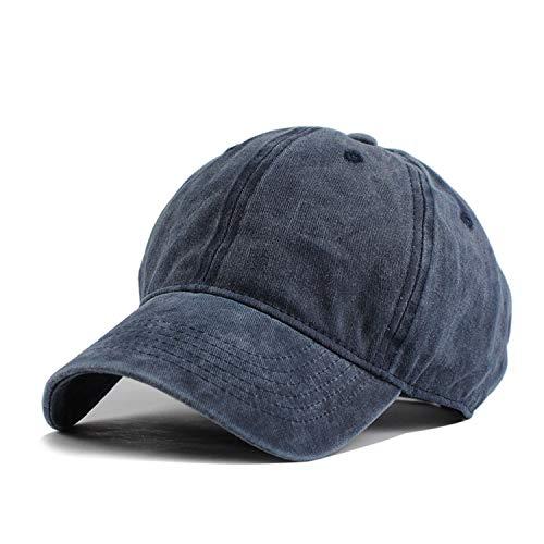 コットン調節可能な 無地 野球帽 ユニセックス カップルキャップ レジャー,ネイビー,調節可能な