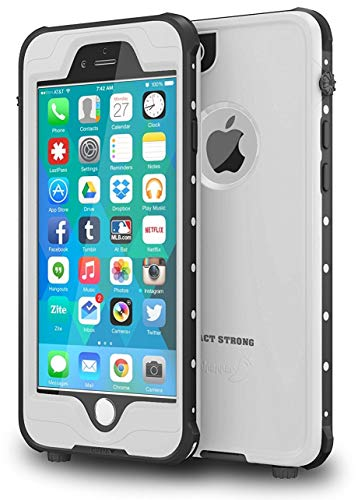IMPACTSTRONG iPhone 6 Waterproof Case [Fingerprint ID Compatible] Slim Full Body Protection for Apple iPhone 6 / 6s (4.7) - White