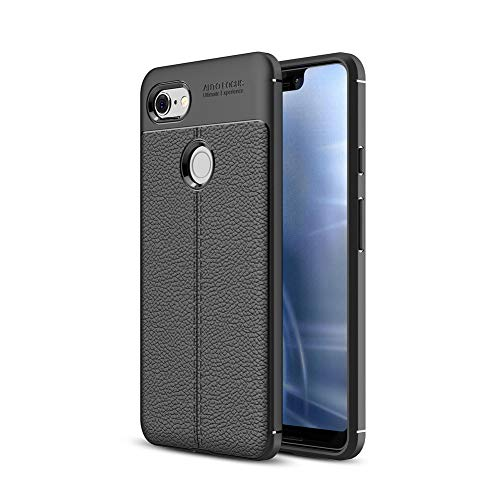 Google Pixel 3 XL Case, Kakalong Silicone Shockproof Cover Light Slim Simple Stylish Soft TPU Fully Protective Design Cases Google Pixel 3 XL -Black