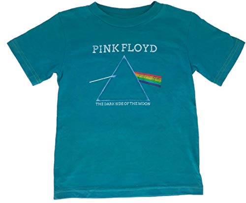 Pink Floyd Boys Toddler T-Shirt Darkside of The Moon Print Turquoise (3T)