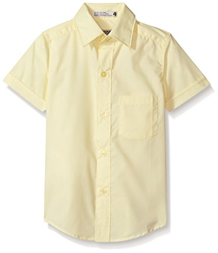 Genuine Boys Shirt (Genuine Boys' Woven Shirt (More Styles Available), New Yellow, 8)