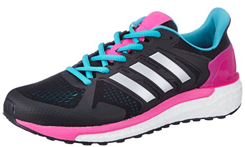 Running 750 Shoes (adidas Supernova ST Boost Womens Running Trainers Sneakers (UK 6 US 7.5 EU 39 1/3, Black Silver BB1001))