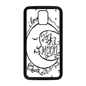 DIY Protective Snap-on Hard Back Case Cover for SamSung Galaxy S5 I9600 with I love you to the moon and back