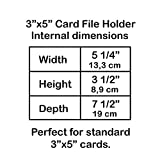 Acrimet 3 x 5 Card File Holder Organizer Metal Base Heavy Duty