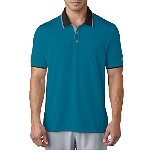 Adidas Antimicrobial Polo Shirt - Adidas Golf 2017 Men's ClimaCool Performance Polo Shirt - Mystery Petrol - BC7590 (Mystery Petrol - XL)