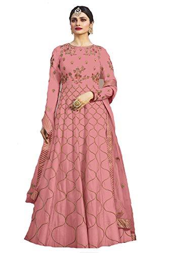STELLACOUTURE Indian Wear & Ethnic Wear Anarkali Salwar Suit Kasheesh Rajmahal (Pink, L-42)