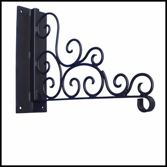 Decorative Scroll Heavy Duty Wall Mount Basket Bracket by Windowbox