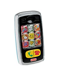 Fisher-Price Laugh & Learn Smilin\' Smart Phone, Black