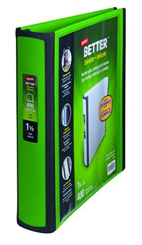 Staples Better Binders D Rings Green product image