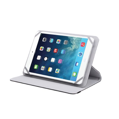 V7 TUC25R-8-GRY-14N Universal Rotating Case and Stand - For iPad mini and tablet PCs between 7
