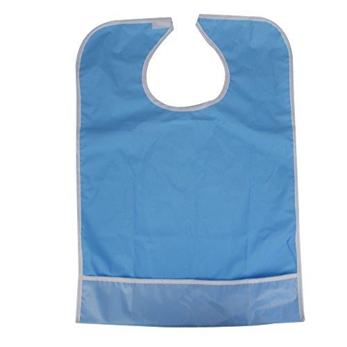 Wasserdicht Erwachsenen Laetzchen Esslaetzchen Mahlzeiten Bib Schutz Behinderung Hilfe Schuerze Himmelblau