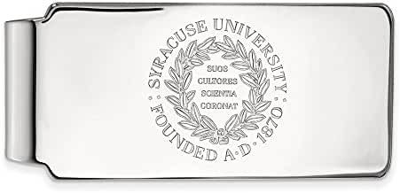 Sterling Silver LogoArt Official Licensed Collegiate Syracuse University (SU) Money Clip Crest
