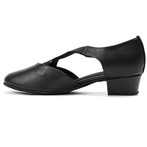 Cygnus Women Pumps Dance Shoes Latin Salsa Tango Practice Ballroom Dance Shoes 1.6 Heel Suede sole//140