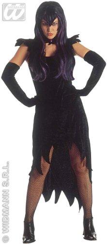 Ladies Dark Mistress Costume Small Uk 8-10 For Halloween Fancy Dress - Mistress Of The Dark Costume Uk