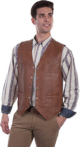 (Scully Men's 507 Classic Western All Leather Vest, Saddle Tan -)