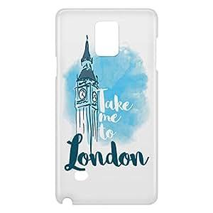Loud Universe Galaxy Note 5 London Print 3D Wrap Around Case - White/Blue