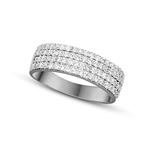 100% Real Diamond Ring Luxury Pave Diamond Ring For Women 5/8 ct IGI Certified Lab Grown Diamond Engagement Rings Lab Created Diamond Rings SI-FG 14K Real Diamond Jewelry Gifts For Women