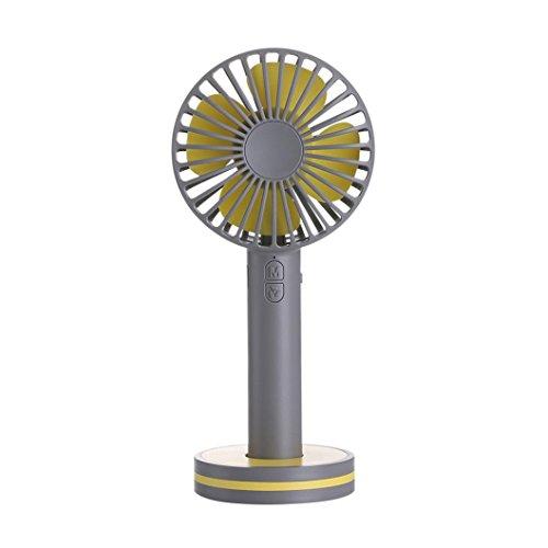 Portable Rechargeable USB Handheld Fan Cooler Desk Quiet Fan Orange MagiDeal