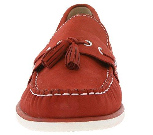 Echtleder Caprice Bootsschuhe Mokassins Rot Slipper Schuhe Rot Damen adrFwd