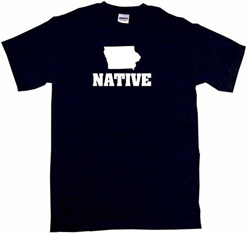 Iowa Silhouette Native Women's Regular Fit Tee Shirt Large-Black