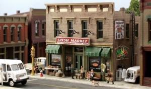 Building Kit Woodland Scenics Model - Woodland Scenics N KIT Fresh Market WOOPF5200