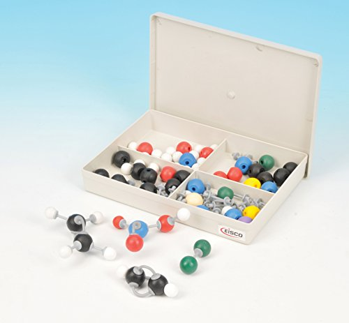 Basic Model Atom - Eisco Labs Basic Inorganic and Organic Chemistry Molecular Model Set, 64 Pieces