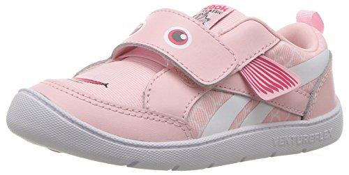 Reebok Baby Ventureflex Chase Ii Sneaker, Fish-Practical Pink/White, 7 M US Toddler (Toddler Reebok Girl Shoes)