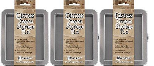 (Tim Holtz Distress Crayon Storage Tins - Pack of Three Tins)