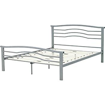 hanover hbedmid qn midtown metal platform bed frame queen metallic