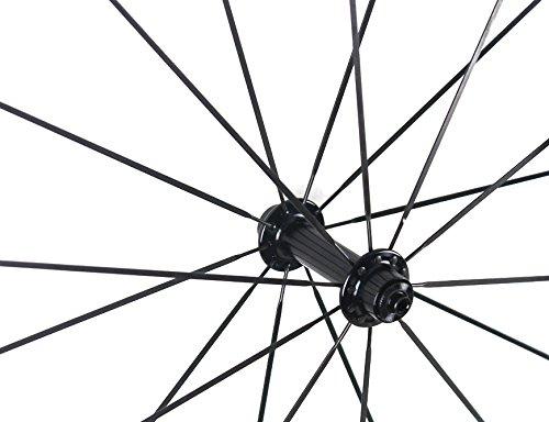 Road Bike Wheel set 50mm Clincher Carbon Fiber Matte 25mm Width For Shimano or Sram 10/11 Speed 700C Wheels by WOKECYC (Image #6)