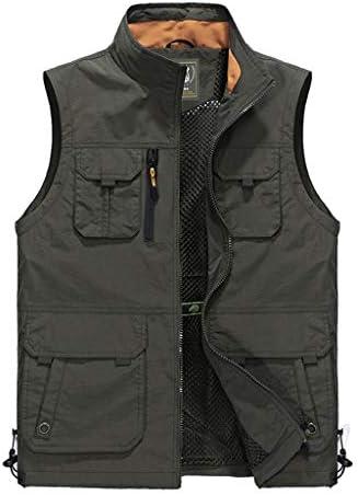 QIQIDEDIAN 釣りベスト 春と夏のベストマルチポケットツーリングベストスポーツベストジャケットフィッシングベスト (Size : XL)