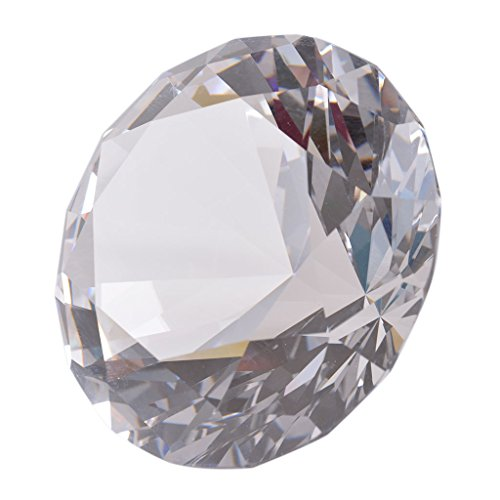 LONGWIN 80mm(3.1 inch) Crystal Diamond Paperweight Jewels Wedding Decorations Centerpieces Home Decor ()