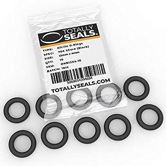 O-Ringe aus Nitrilkautschuk 70A Shore H/ärte Schwarz verschiedene Packungsgr/ö/ßen 1 25 mm Au/ßendurchmesser 18 mm x 3,5 mm