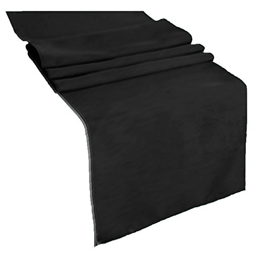 Runner Linens Factory Runner Polyester 12x72 Inches (Black)