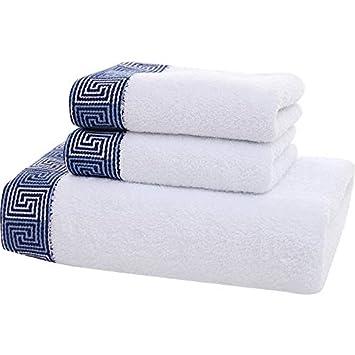 BB.er Toalla de baño de Tres Piezas de algodón Pareja Suave Toalla de Lavado Absorbente Caja de Regalo: Amazon.es: Hogar