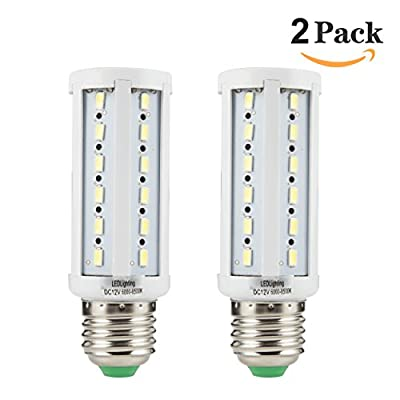 12v E26 LED Bulbs Bright White 6000k 10 Watts Low Voltage White Color DC 12 Volt Edison Base Light Bulbs for Camper Outdoor RV NiMh Lithium Deep Cycle Battery Emergency Work Lamp