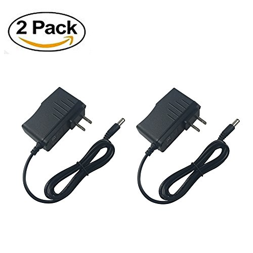 [2 PACK] BOLWEO AC 100-240V to DC 5V 2A Power Supply Adapter, 10W Adapter for TV Box, LED Strip Lights ,Audio/Video, Wireless Router,DC Connector Jack 5.5mmx2.1mm