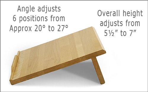 Ergo Desk 500N Desk Angle Natural Finish
