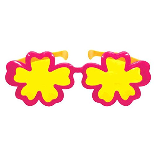 Amscan Fun-Filled Summer Beach Party Giant Hibiscus Eyeglasses, Multi Color, 13 x 4.7